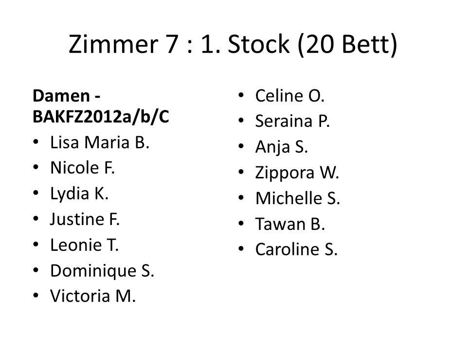 Zimmer 7 : 1. Stock (20 Bett) Damen - BAKFZ2012a/b/C Lisa Maria B.