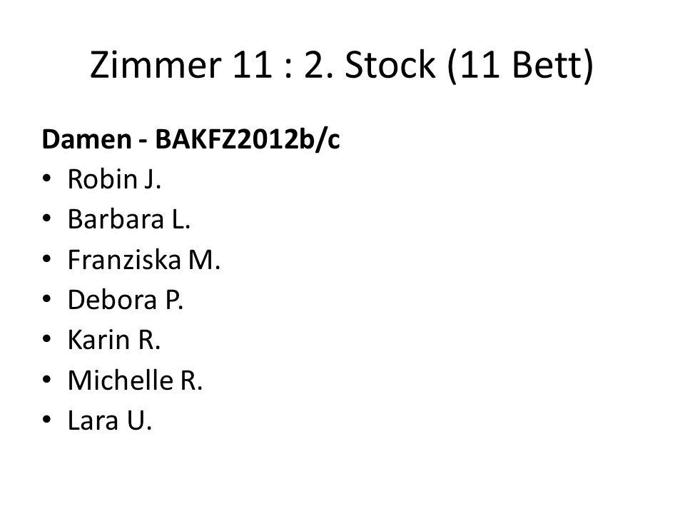 Zimmer 11 : 2. Stock (11 Bett) Damen - BAKFZ2012b/c Robin J.