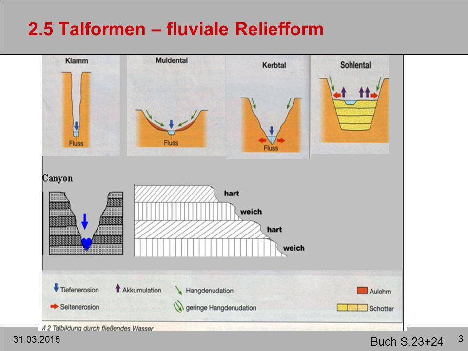 3 31.03.2015 2.5 Talformen – fluviale Reliefform Buch S.23+24