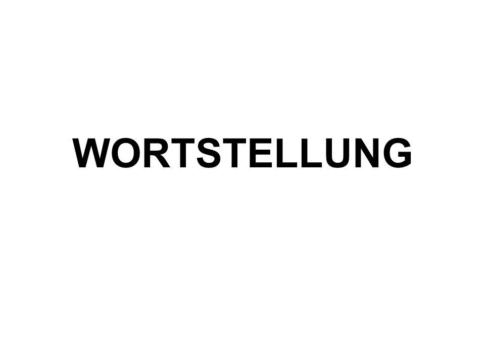 WORTSTELLUNG