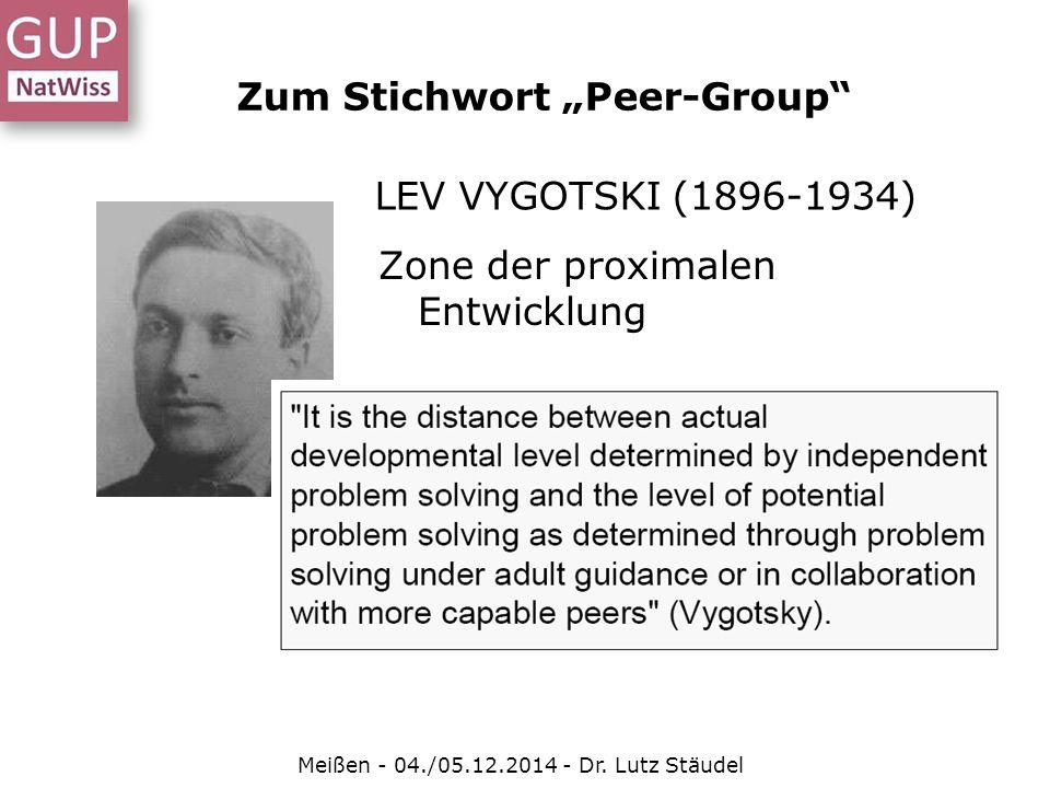 """LEV VYGOTSKI (1896-1934) Zone der proximalen Entwicklung Zum Stichwort """"Peer-Group"""" Meißen - 04./05.12.2014 - Dr. Lutz Stäudel"""