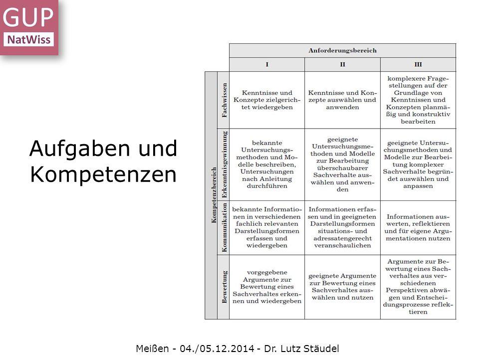 Aufgaben und Kompetenzen Meißen - 04./05.12.2014 - Dr. Lutz Stäudel