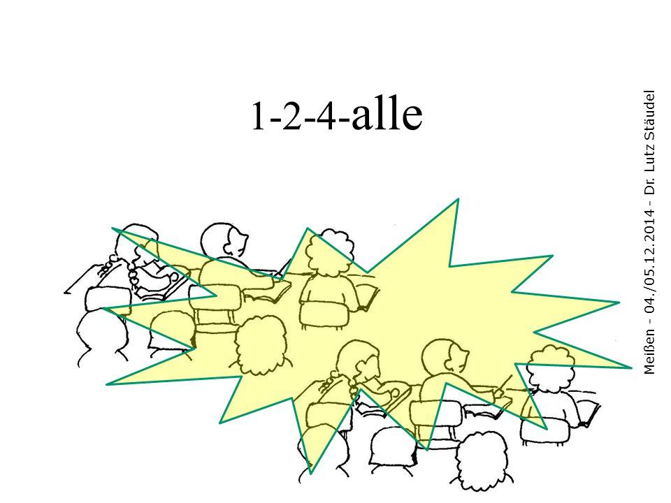"""Eine experimentelle """"Aufgabe Meißen - 04./05.12.2014 - Dr."""
