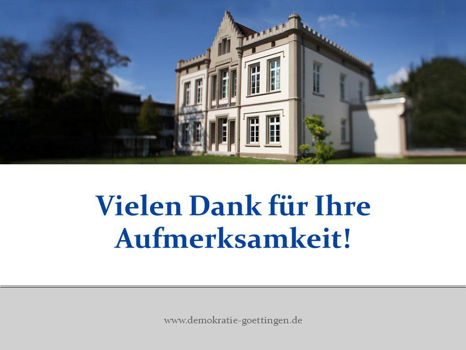 Vielen Dank für Ihre Aufmerksamkeit! www.demokratie-goettingen.de