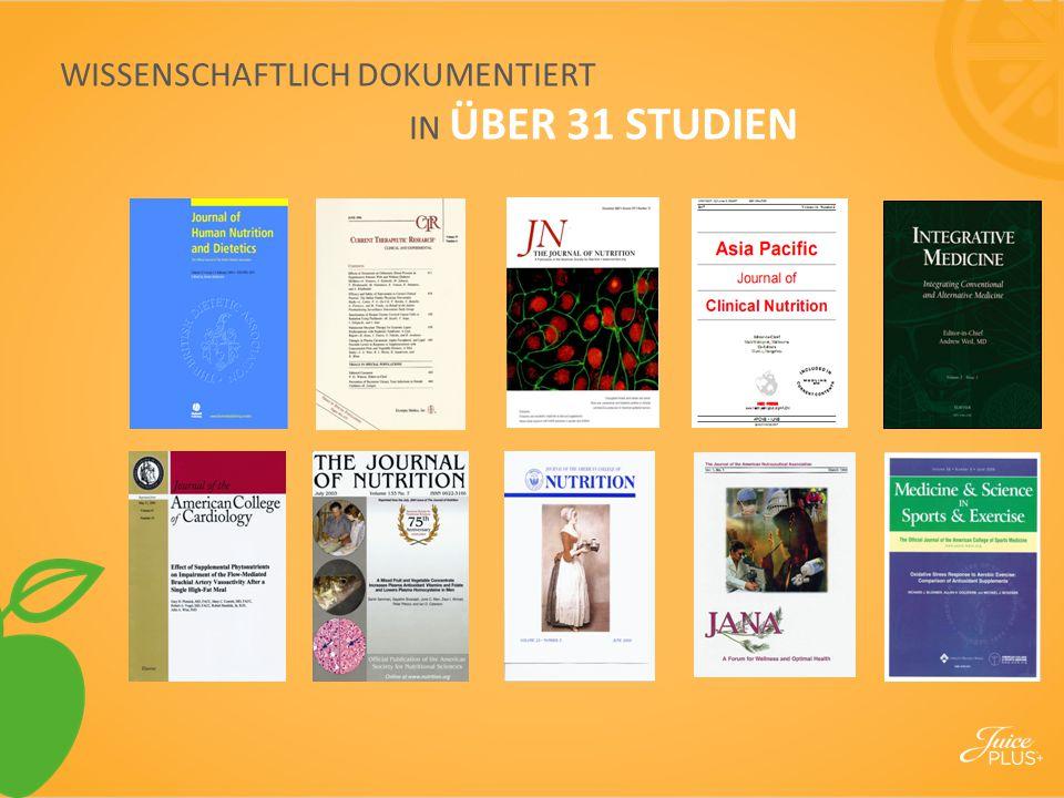 WISSENSCHAFTLICH DOKUMENTIERT IN ÜBER 31 STUDIEN