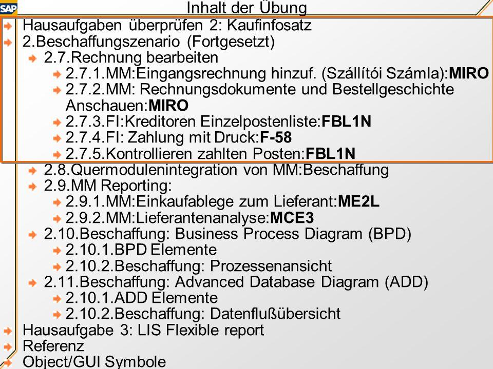 SAP TERP10 Preparation Practice 3 German Dr. Gábor Pauler, Associate Professor, Private Entrepeneur Tax Reg. No.: 63673852-3-22 Bank account: 50400113