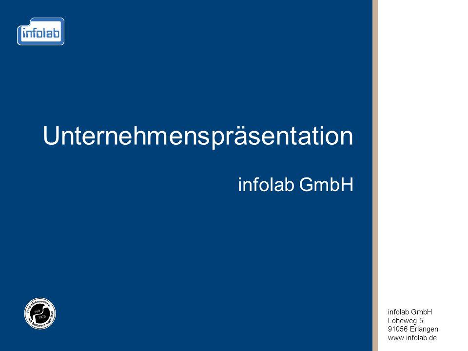 infolab GmbH Loheweg 5 91056 Erlangen www.infolab.de Unternehmenspräsentation infolab GmbH