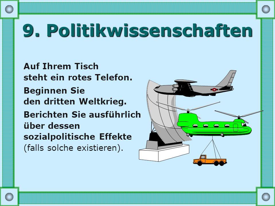 8. Jura Entwickeln Sie einen realistischen Plan, innerhalb von 4 Monaten das deutsche Zivilrecht zu reformieren. Sie dürfen ungerade Paragraphen ausla