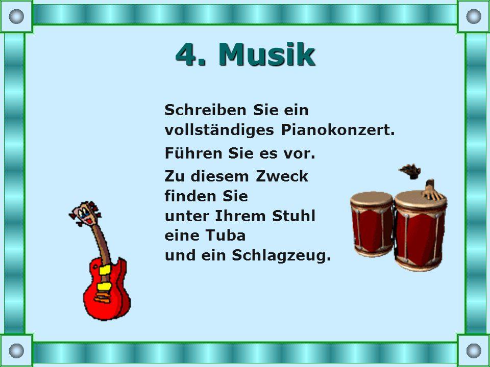 4.Musik Schreiben Sie ein vollständiges Pianokonzert.