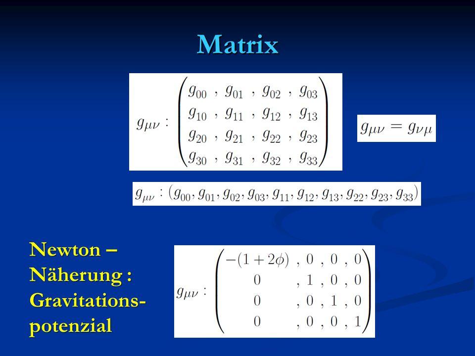 Matrix Newton – Näherung : Gravitations- potenzial