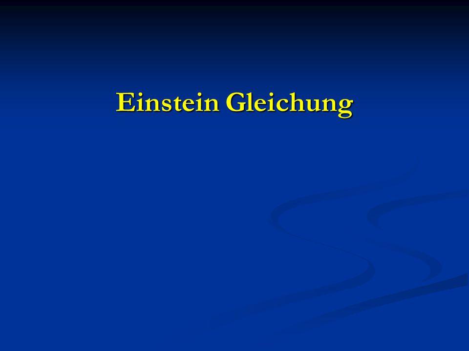 Einstein Gleichung