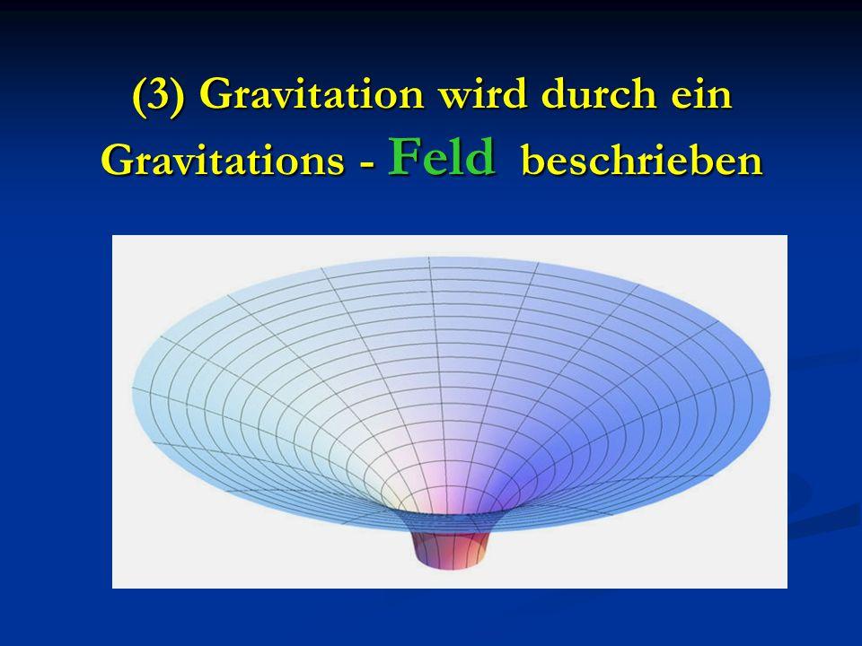 (3) Gravitation wird durch ein Gravitations - Feld beschrieben