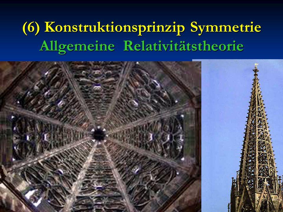 (6) Konstruktionsprinzip Symmetrie Allgemeine Relativitätstheorie