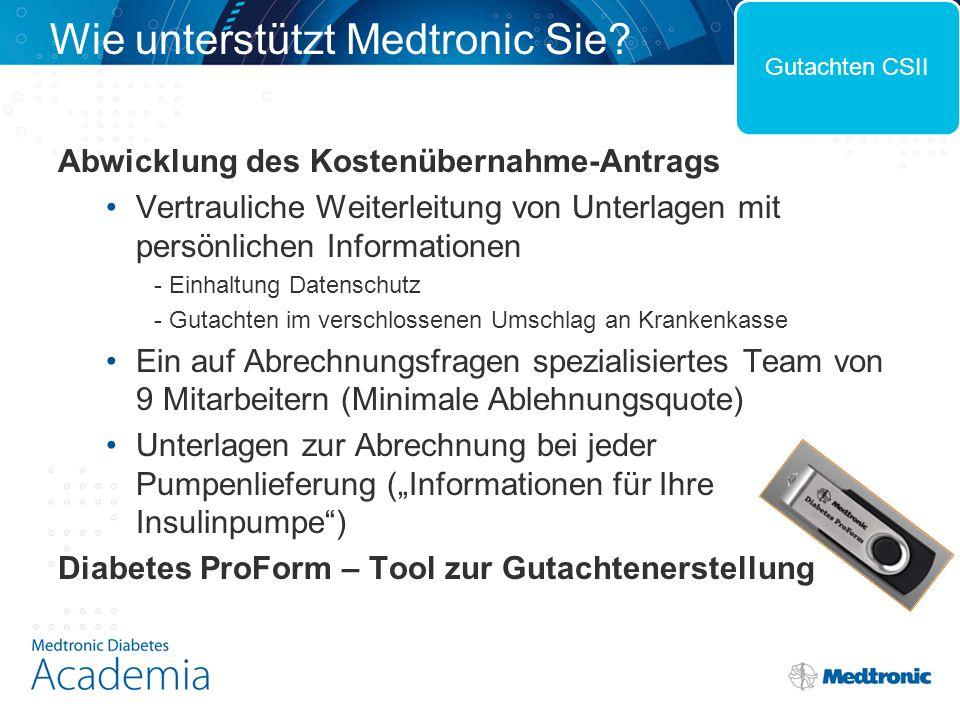 Wie unterstützt Medtronic Sie? Abwicklung des Kostenübernahme-Antrags Vertrauliche Weiterleitung von Unterlagen mit persönlichen Informationen - Einha