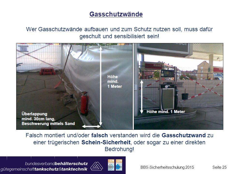 Wer Gasschutzwände aufbauen und zum Schutz nutzen soll, muss dafür geschult und sensibilisiert sein! Falsch montiert und/oder falsch verstanden wird d