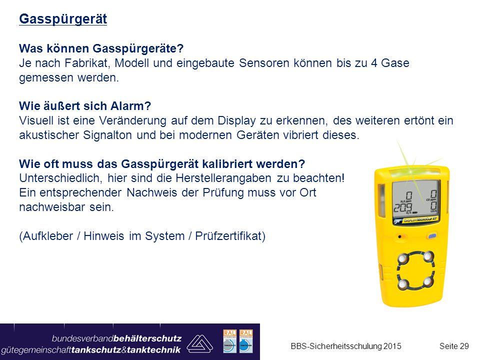 Gasspürgerät Was können Gasspürgeräte? Je nach Fabrikat, Modell und eingebaute Sensoren können bis zu 4 Gase gemessen werden. Wie äußert sich Alarm? V