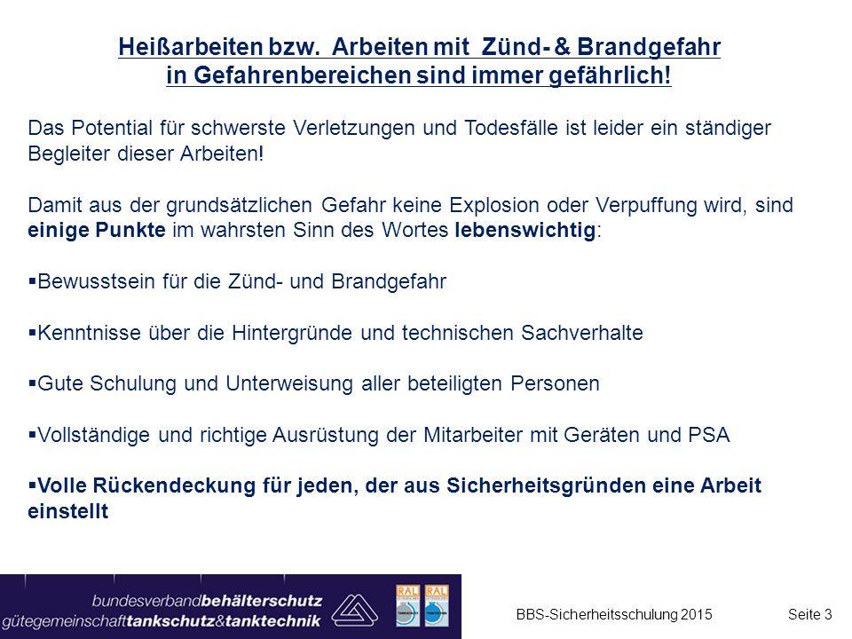 Gasschutzwände - Gasdicht oder nicht ??? BBS-Sicherheitsschulung 2015 Seite 24