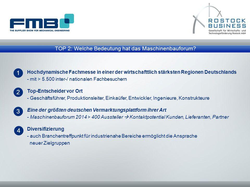 TOP 2: Welche Bedeutung hat das Maschinenbauforum? Hochdynamische Fachmesse in einer der wirtschafttlich stärksten Regionen Deutschlands - mit > 5.500