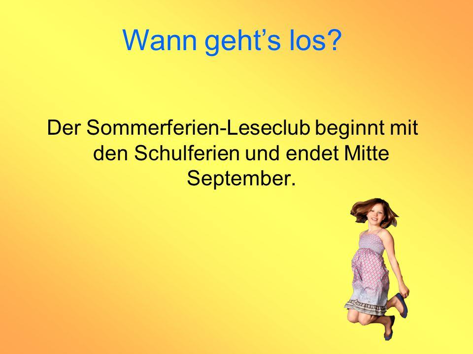 Der Sommerferien-Leseclub beginnt mit den Schulferien und endet Mitte September. Wann geht's los?