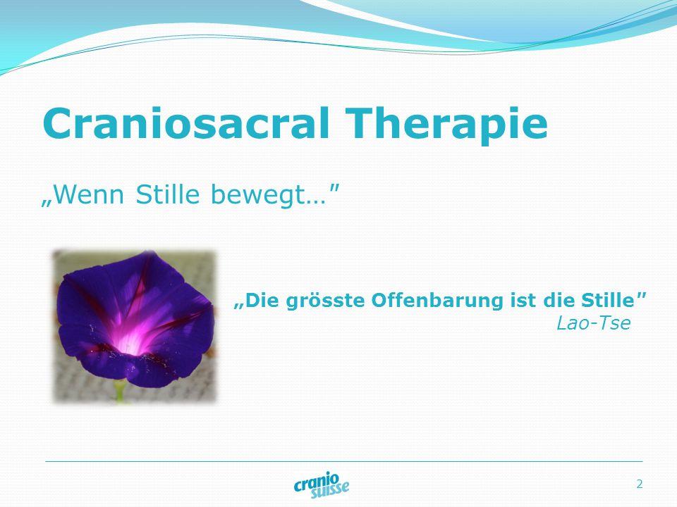 Craniosacral Therapie Methode der Komplementär Therapie Eignet sich für jeden Menschen Hilfreich bei vielerlei Beschwerden Orientiert sich am Gesunden und den Ressourcen 3