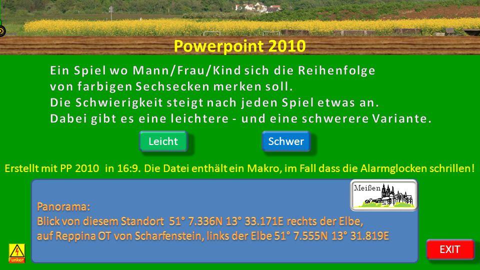 Powerpoint 2010 Funker LeichtSchwer Meißen EXIT Erstellt mit PP 2010 in 16:9.