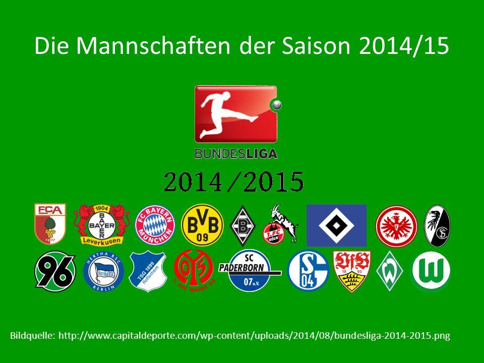 Die Mannschaften der Saison 2014/15 Bildquelle: http://www.capitaldeporte.com/wp-content/uploads/2014/08/bundesliga-2014-2015.png