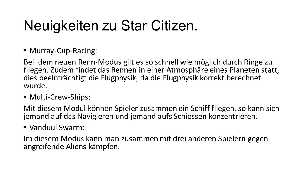 Neuigkeiten zu Star Citizen. Murray-Cup-Racing: Bei dem neuen Renn-Modus gilt es so schnell wie möglich durch Ringe zu fliegen. Zudem findet das Renne