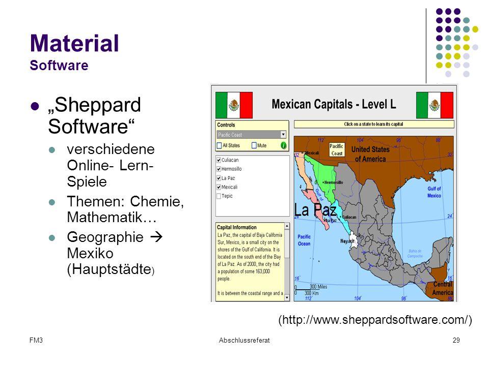 """FM3Abschlussreferat29 Material Software """"Sheppard Software"""" verschiedene Online- Lern- Spiele Themen: Chemie, Mathematik… Geographie  Mexiko (Hauptst"""
