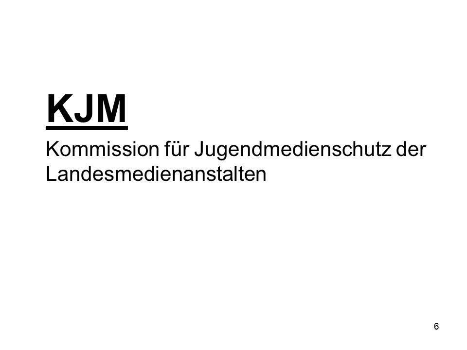 6 KJM Kommission für Jugendmedienschutz der Landesmedienanstalten