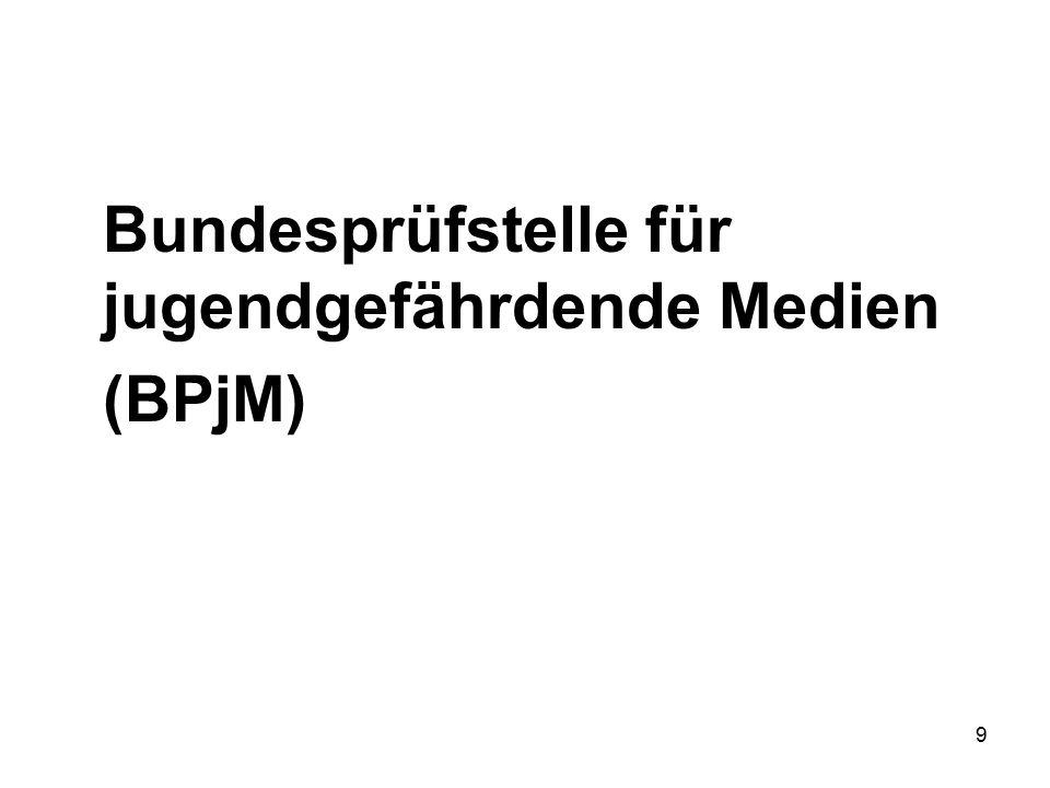 9 Bundesprüfstelle für jugendgefährdende Medien (BPjM)