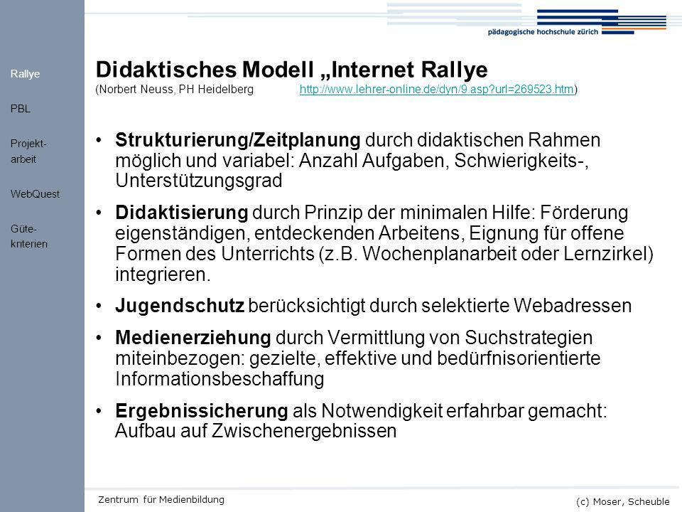 "Kick-off ALMO (c) Moser, Scheuble Zentrum für Medienbildung Didaktisches Modell ""Internet Rallye (Norbert Neuss, PH Heidelberghttp://www.lehrer-online"