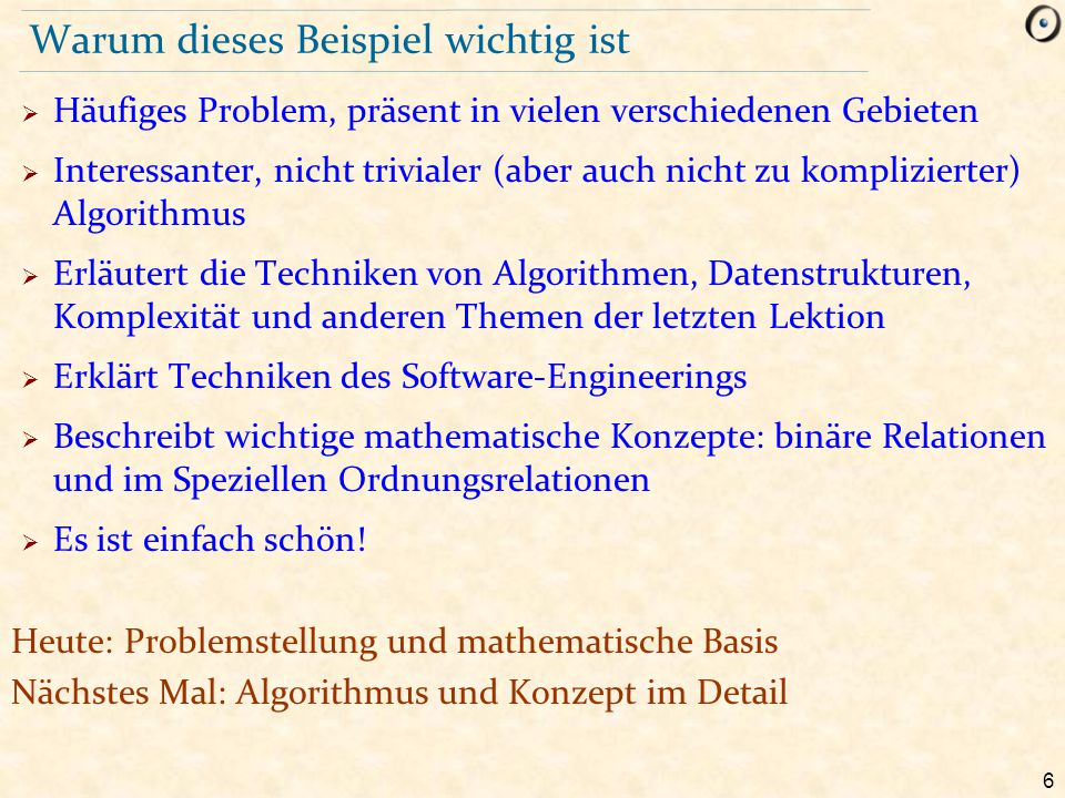 97 Schema des Algorithmus sortiere do from create {...} sequenz.