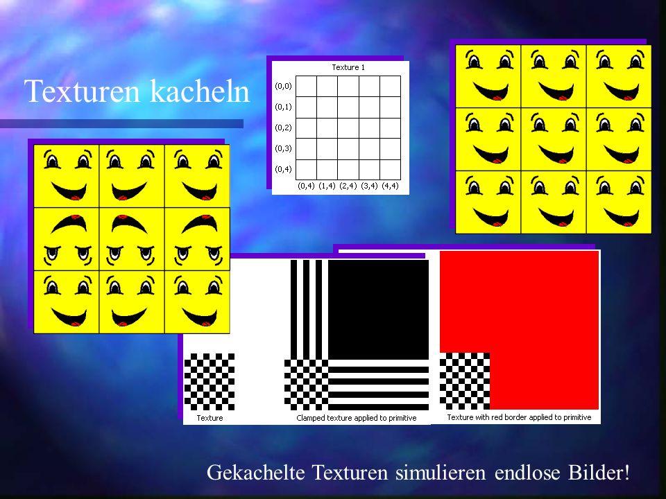 Texturen kacheln Gekachelte Texturen simulieren endlose Bilder!