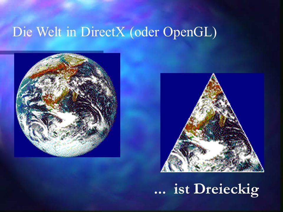 Die Welt in DirectX (oder OpenGL)... ist Dreieckig