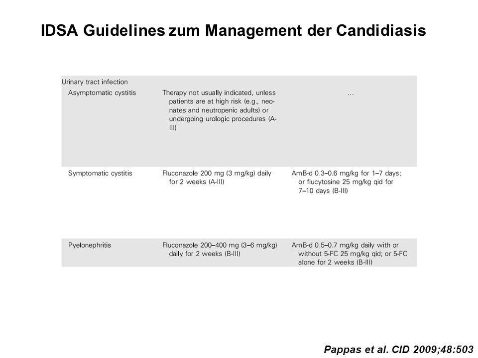 IDSA Guidelines zum Management der Candidiasis Pappas et al. CID 2009;48:503
