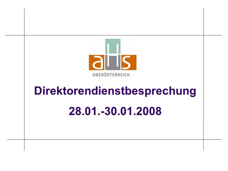 Direktorendienstbesprechung 28.01.-30.01.2008