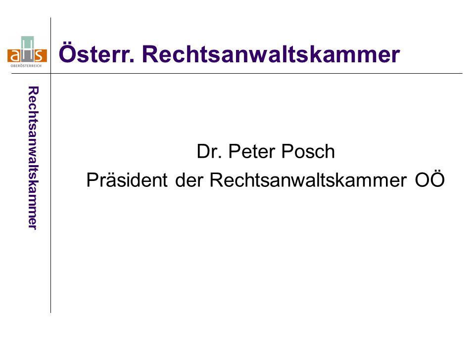 Dr. Peter Posch Präsident der Rechtsanwaltskammer OÖ Österr.