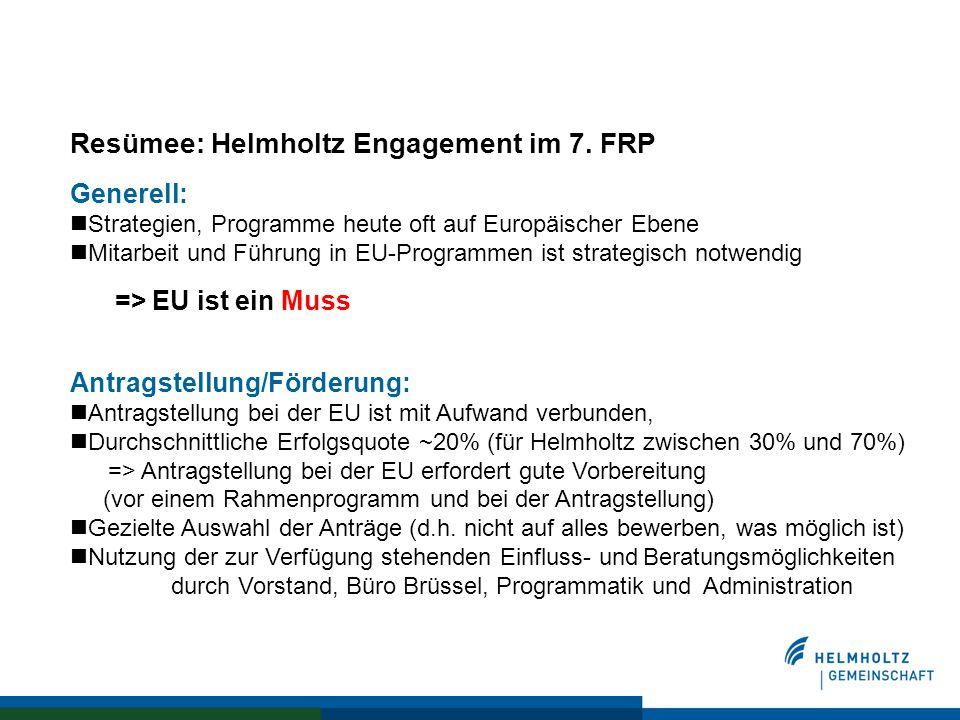 Resümee: Helmholtz Engagement im 7.