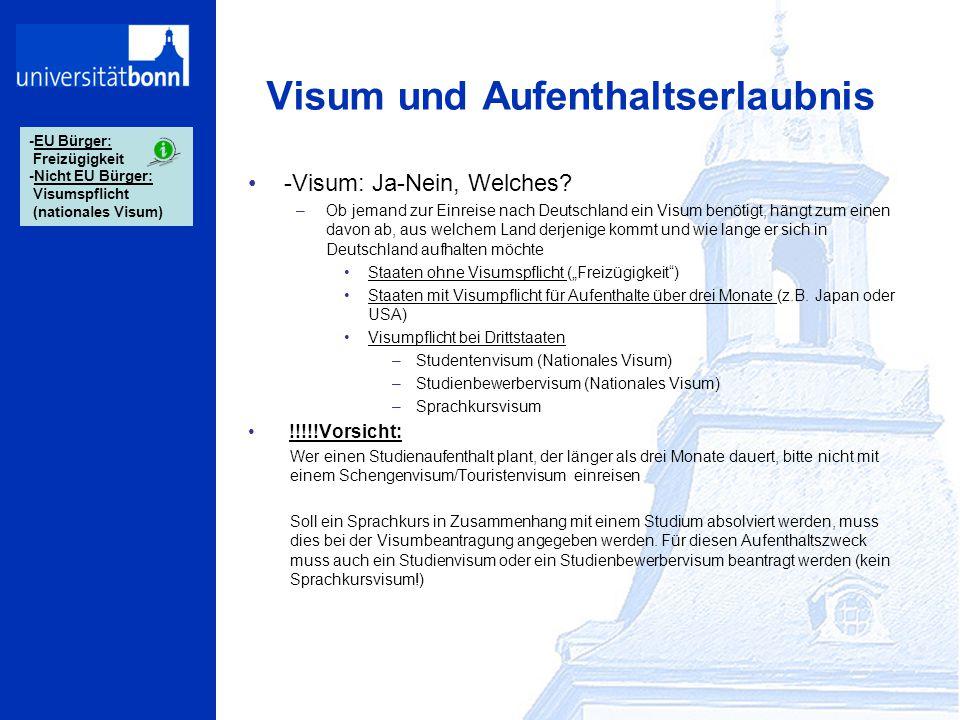 Visum und Aufenthaltserlaubnis -Visum: Ja-Nein, Welches? –Ob jemand zur Einreise nach Deutschland ein Visum benötigt, hängt zum einen davon ab, aus we