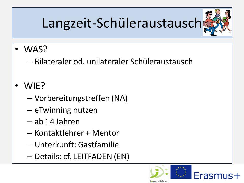 Langzeit-Schüleraustausch WAS. – Bilateraler od. unilateraler Schüleraustausch WIE.
