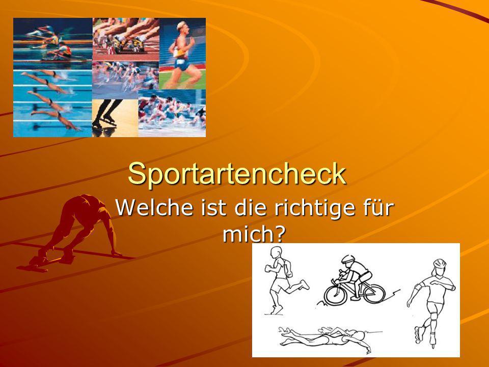 Sportartencheck Welche ist die richtige für mich?