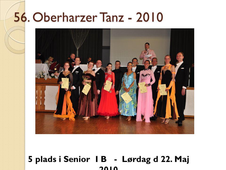 56. Oberharzer Tanz - 2010 5 plads i Senior I B - Lørdag d 22. Maj 2010