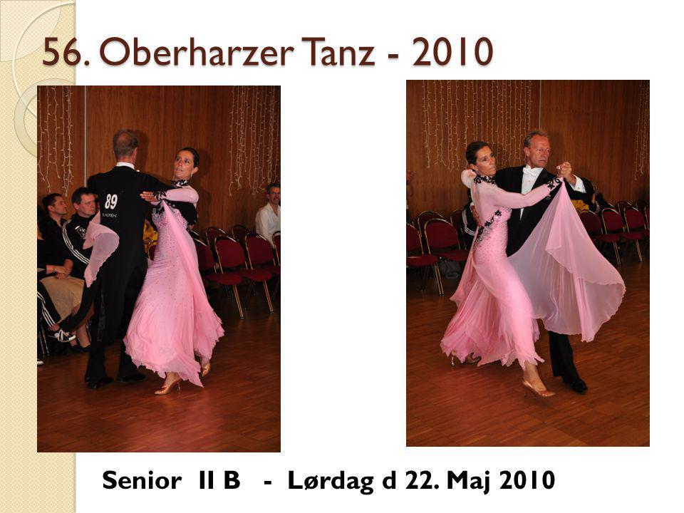 56. Oberharzer Tanz - 2010 Senior II B - Lørdag d 22. Maj 2010