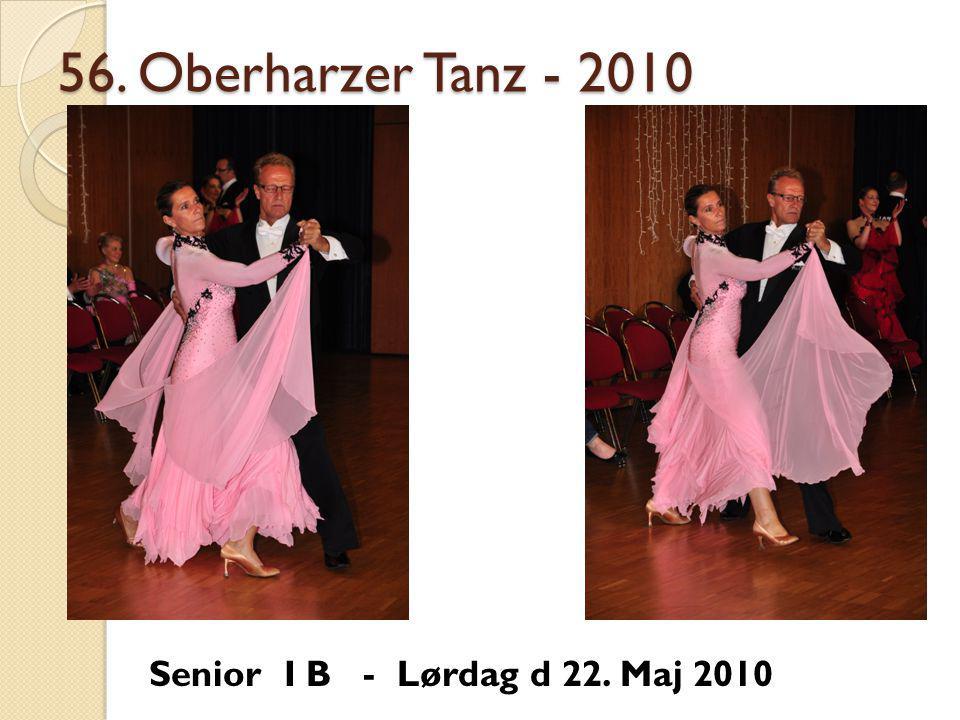 56. Oberharzer Tanz - 2010 Senior I B - Lørdag d 22. Maj 2010