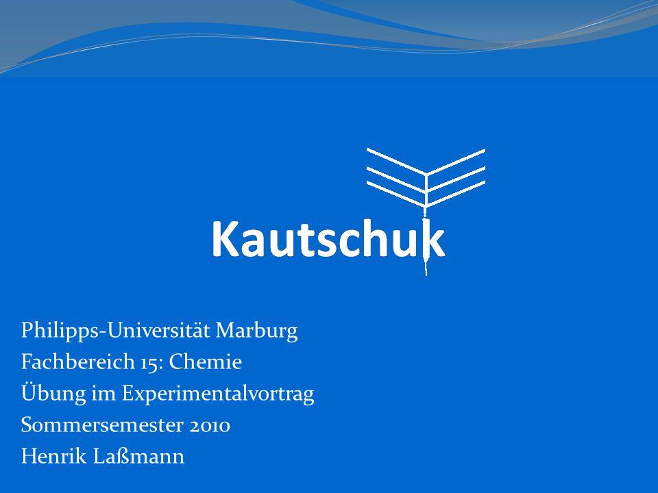 Philipps-Universität Marburg Fachbereich 15: Chemie Übung im Experimentalvortrag Sommersemester 2010 Henrik Laßmann