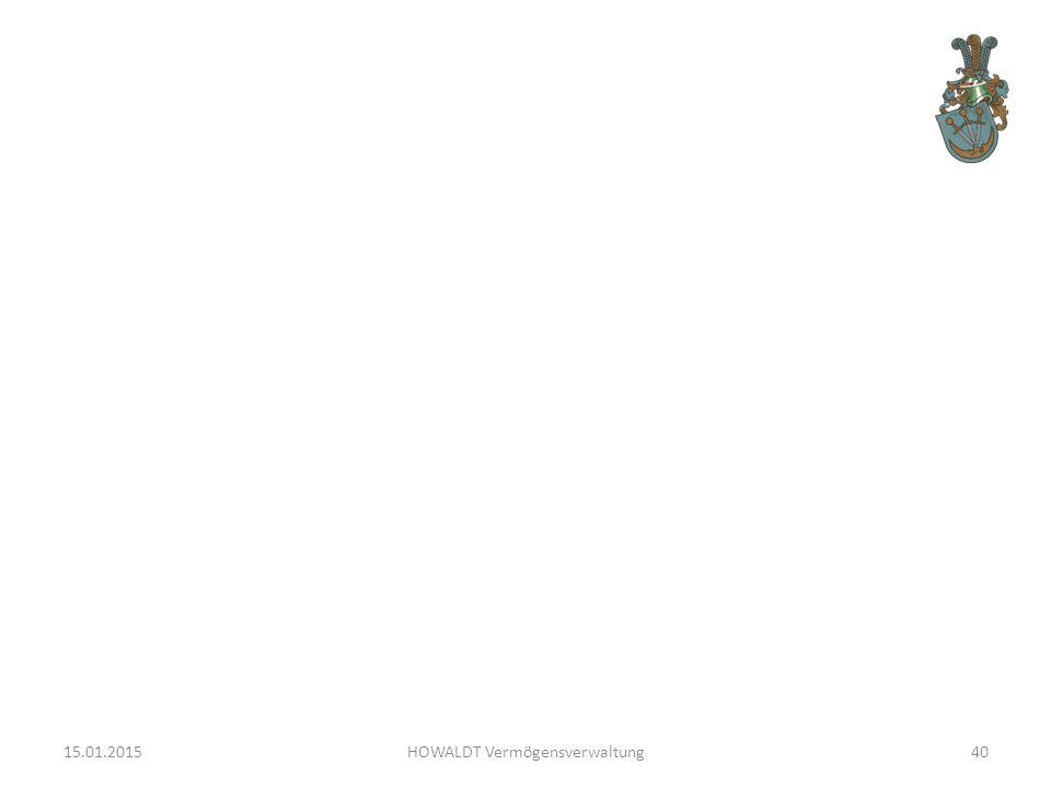 15.01.2015HOWALDT Vermögensverwaltung40