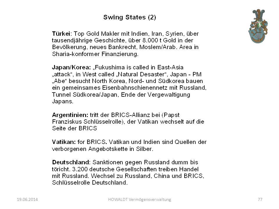 19.06.2014HOWALDT Vermögensverwaltung77