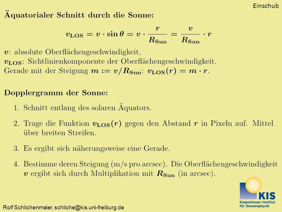 Rolf Schlichenmaier, schliche@kis.uni-freiburg.de Einschub