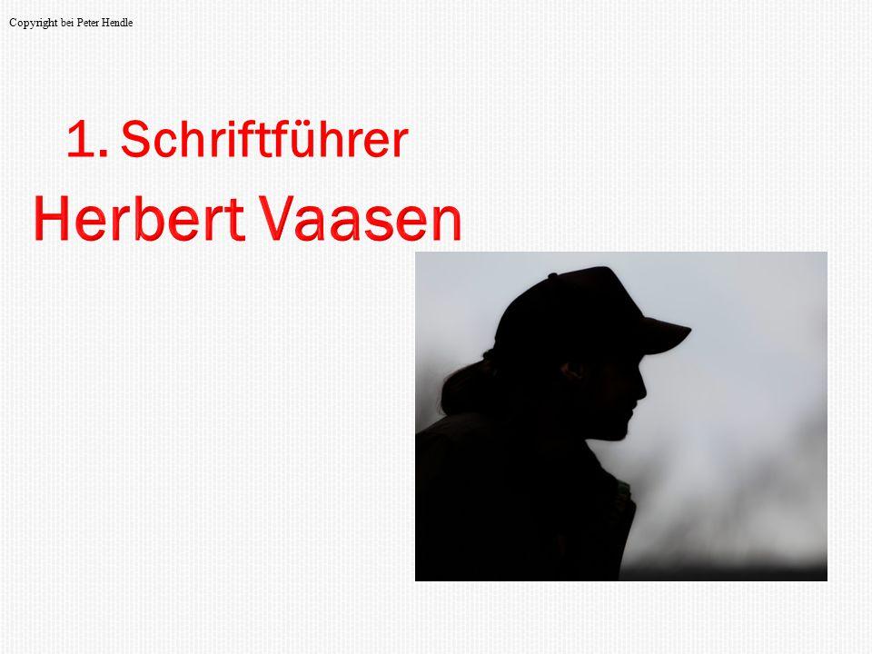 1. Schriftführer Copyright bei Peter Hendle