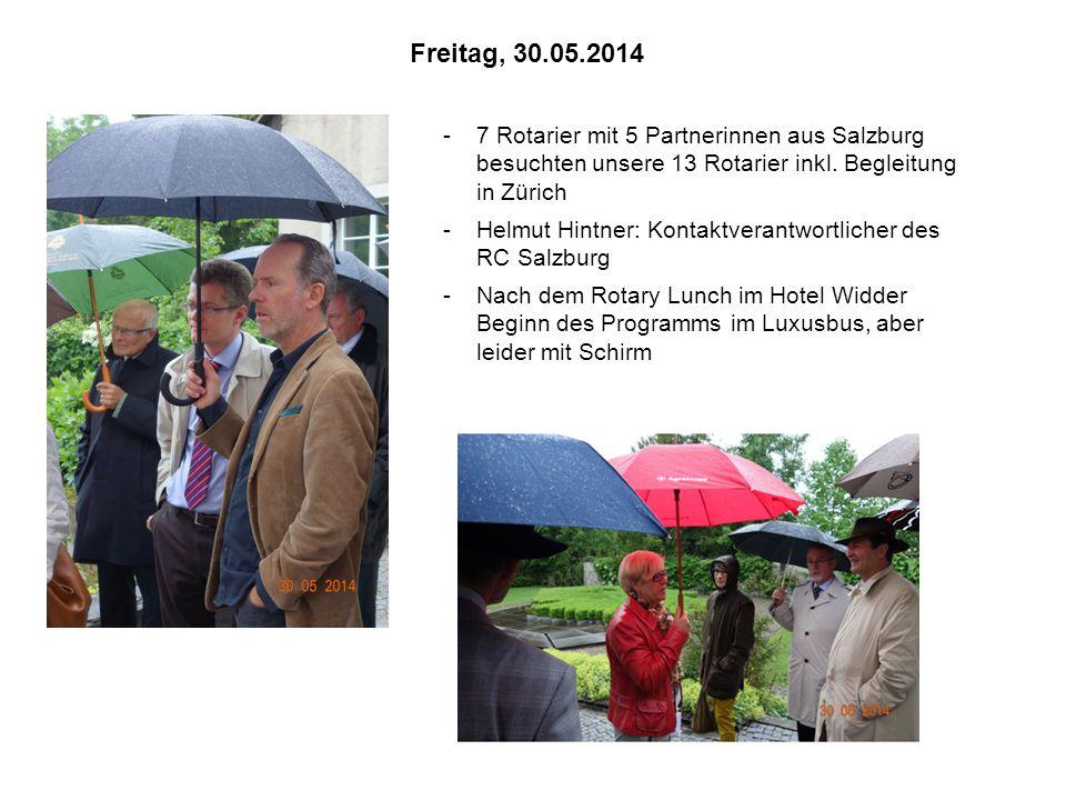 -7 Rotarier mit 5 Partnerinnen aus Salzburg besuchten unsere 13 Rotarier inkl.